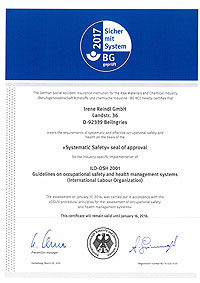 Seal of approval NLF / ILO-OSH 2001